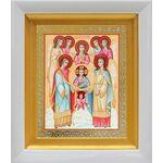 Собор Архангела Михаила, белый киот 14*16 см - Иконы