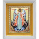 Ангел Хранитель, белый киот 14*16 см - Иконы