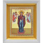 """Икона Божией Матери """"Нерушимая Стена"""", в белом киоте 14*16 см - Иконы"""