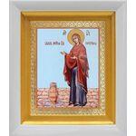 """Икона Божией Матери """"Геронтисса"""", белый киот 14*16 см - Иконы"""