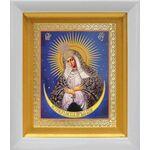 Икона Божией Матери Остробрамская Виленская, белый киот 14*16 см - Иконы
