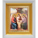 Святая Троица, икона в белом киоте 14*16 см - Иконы