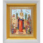 """Икона Божией Матери """"Всех скорбящих Радость"""" с грошиками, киот 14*16см - Иконы"""