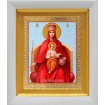 """Икона Божией Матери """"Державная"""", в белом киоте 14*16 см - Иконы"""