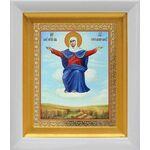 """Икона Божией Матери """"Спорительница хлебов"""", белый киот 14*16 см - Иконы"""