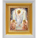Воскресение Христово, икона в белом киоте 14*16 см - Иконы