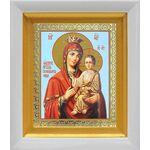 """Икона Божией Матери """"Скоропослушница"""", в белом киоте 14*16 см - Иконы"""