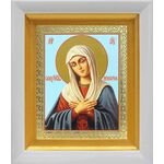 """Икона Божией Матери """"Умиление"""", в белом киоте 14*16 см - Иконы"""