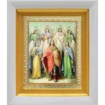 Собор Архангела Михаила, икона в белом киоте 14*16 см - Иконы
