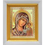 Казанская икона Божией Матери в зеленом облачении, киот 14*16 см - Иконы