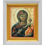 Влахернская икона Божией Матери, белый киот 14*16 см - Иконы