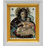 Козельщанская икона Божией Матери, белый киот 14*16 см - Иконы
