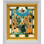 Девять мучеников Кизических, XVIII в, икона в белом киоте 14*16 см - Иконы