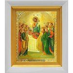 Успение Пресвятой Богородицы, икона в белом киоте 14*16 см - Иконы