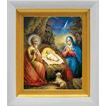 Рождество Христово, в белом киоте 14*16 см - Иконы