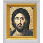 Спас Синайский или Христос Пантократор, икона в белом киоте 14*16 см - Иконы