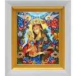 """Икона Божией Матери """"Благоуханный Цвет"""", белый киот 14*16 см - Иконы"""