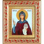 Преподобная София Суздальская, икона в рамке с узором 14,5*16,5 см - Иконы