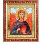 Архангел Уриил, икона в рамке с узором 19*22,5 см - Иконы
