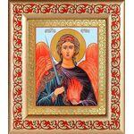 Архангел Уриил, икона в рамке с узором 14,5*16,5 см - Иконы