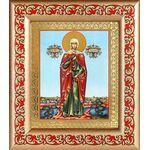 Мученица Валерия Кесарийская, Калерия, рамка с узором 14,5*16,5 см - Иконы