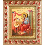 Апостол Матфей, евангелист, икона в рамке с узором 14,5*16,5 см - Иконы