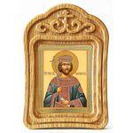 Равноапостольный Константин Великий, икона в резной рамке - Иконы