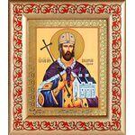 Благоверный князь Владислав Сербский, рамка с узором 14,5*16,5 см - Иконы