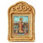 Преподобный Роман Сладкопевец, икона в резной рамке - Иконы