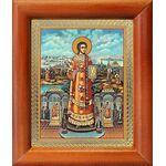 Преподобный Роман Сладкопевец, икона в рамке 8*9,5 см - Иконы