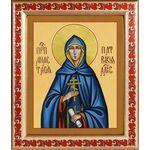 Преподобная Анастасия Патрикия, Александрийская, рамка с узором19*22,5 - Иконы