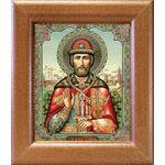 Благоверный князь Димитрий Донской, широкая рамка 14,5*16,5 см - Иконы