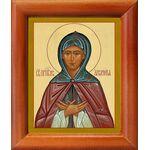 Преподобная Аполлинария, икона в рамке 8*9,5 см - Иконы