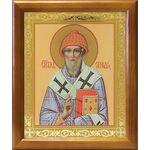 Святитель Спиридон Тримифунтский, деревянная рамка 17,5*20,5 см - Иконы