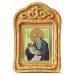 Преподобный Стилиан Пафлагонский, Чадозаступник, икона в резной рамке - Иконы