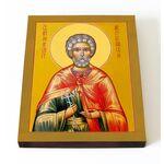 Мученик Андрей Месукевийский, Грузинский, икона на доске 13*16,5 см - Иконы