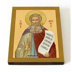 Преподобный Арсений Великий, икона на доске 13*16,5 см - Иконы