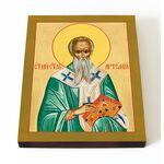 Святитель Артемий Солунский, икона на доске 13*16,5 см - Иконы