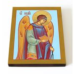 Архангел Иегудиил, икона на доске 13*16,5 см - Иконы