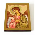 Архангел Селафиил, икона на доске 13*16,5 см - Иконы