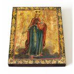 """Икона Божией Матери """"Благодатное небо"""", 1800 г, доска, 13*16,5 см - Иконы"""