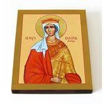 Мученица Валерия Римская, царица, икона на доске 13*16,5 см - Иконы