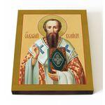 Святитель Василий Великий, печать на доске 13*16,5 см - Иконы