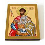 Мученик Виктор Дамасский, икона на доске 13*16,5 см - Иконы