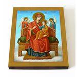 """Икона Божией Матери """"Всецарица"""", на доске 13*16,5 см - Иконы"""