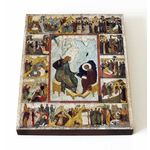 Апостол Иоанн Богослов на острове Патмос, XVI в, доска 13*16,5 см - Иконы