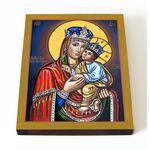 Киево-Братская икона Божией Матери, печать на доске 13*16,5 см - Иконы
