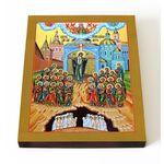 """Икона Божией Матери """"Непроходимая Дверь"""", печать на доске 13*16,5 см - Иконы"""