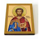 Мученик Павел Птолемаидский, икона на доске 13*16,5 см - Иконы