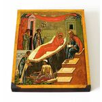 Рождество Иоанна Предтечи, Новгород XV-XVI в, на доске 13*16,5 см - Иконы